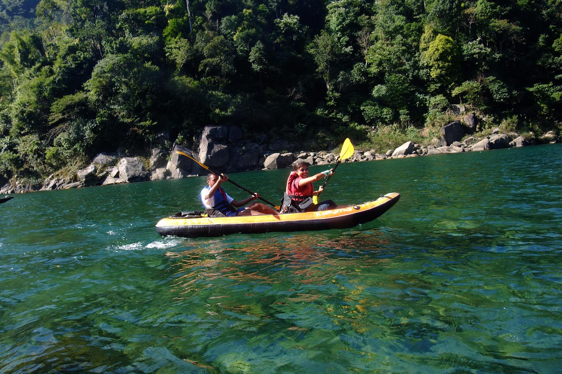 Paddling in Meghalaya
