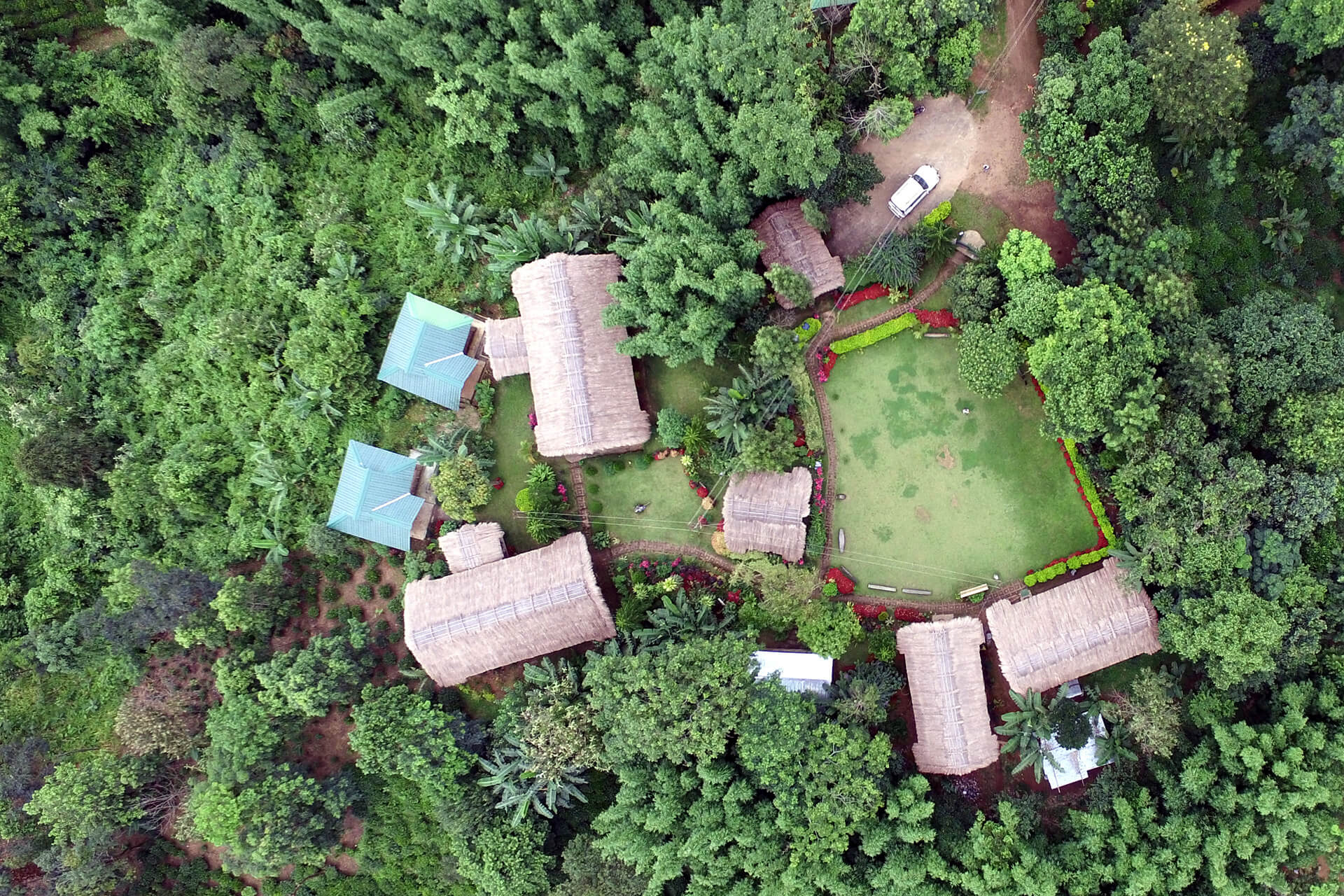 Overhead view of Chandigre Resort